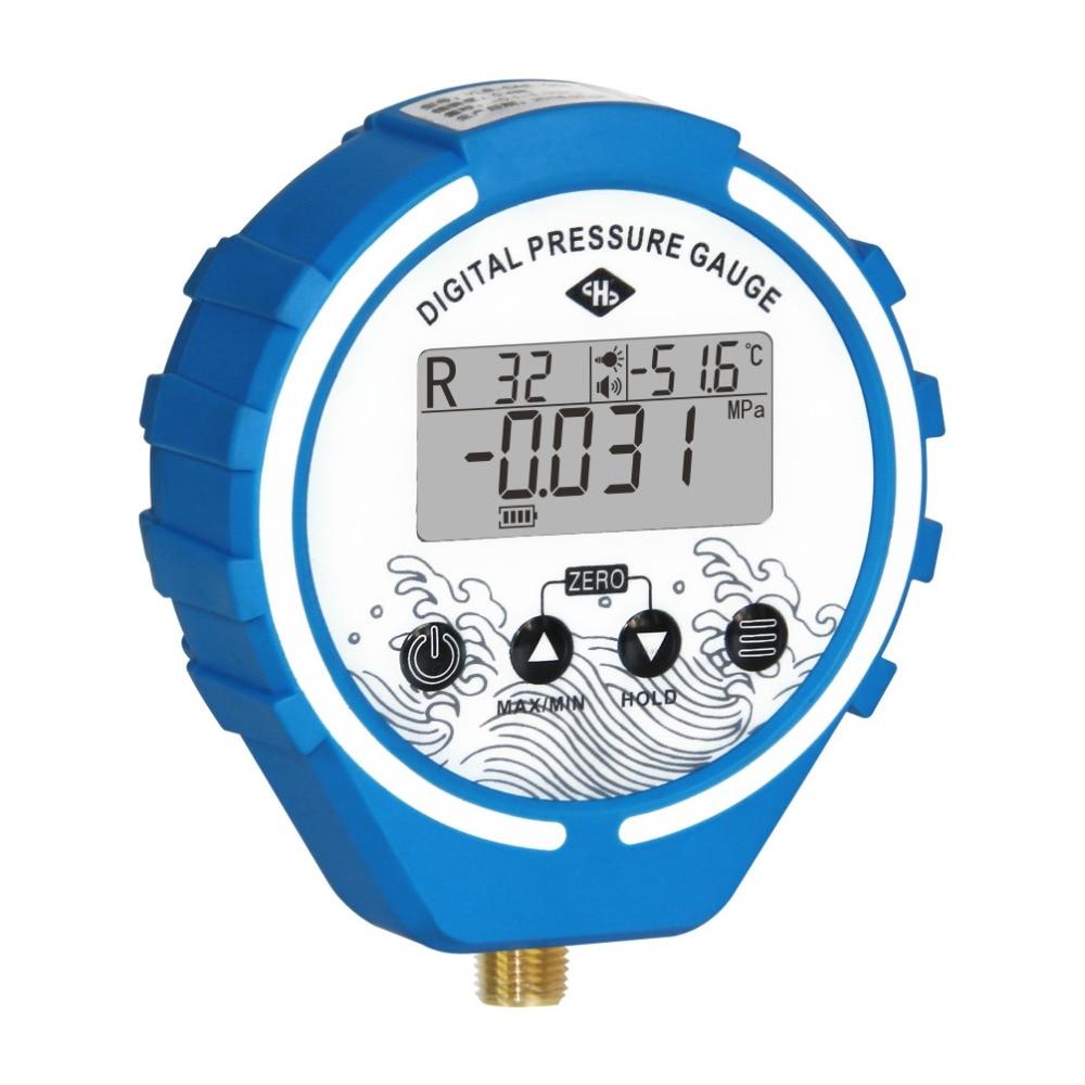 Pressure Gauge Refrigeration Digital  Manifold Tester Vacuum Pressure Meter HVAC Temperature Tester Freon Pressure R134A R410