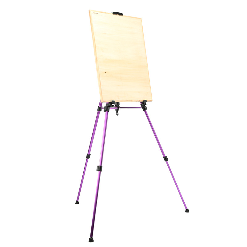 цена Art Supplies Small Colorful Aluminum Alloy Easel Drawing Stand Hand Telescopic Sketch Drawing Frame Multicolor Mini Easel