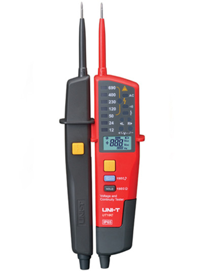 UNI-T UT18C Auto Range Voltage Meter Continuity Tester LCD/LED Indication Date Hold RCD Test No Battery Detection Detector mini voltage and continuity tester multi function auto range voltage teter pen lcd digital voltmeter with date hold rcd test