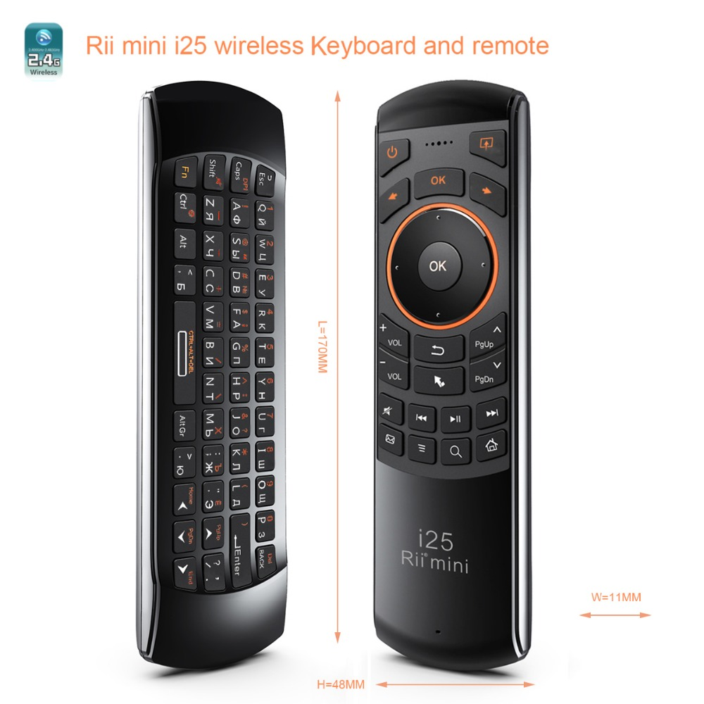 MINIX Rii mini i25 Russische Version Tastatur Remote USB Wireless Air Maus für MINIX NEO U9-H <font><b>Android</b></font> <font><b>TV</b></font> BoX image