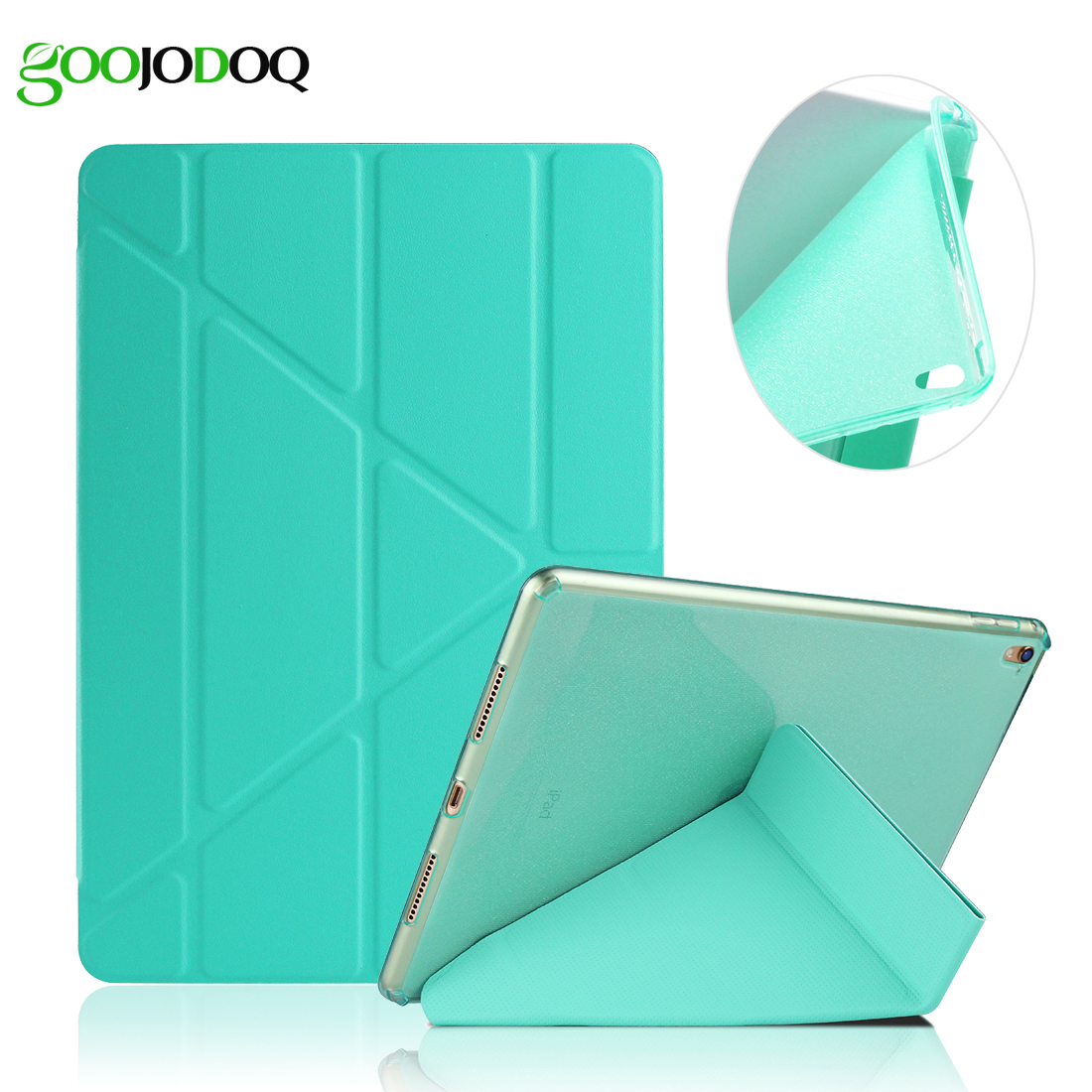 Case For iPad Pro 9.7 / iPad 2 3 4 PU Leather Smart Cover, [Multiple Stand + Glitter Silicone Soft Back] for iPad 4 Case soft silicone tpu translucent back cover for ipad air 2 air2 trifold stand smart auto on off premium pu leather slim fit case