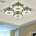 Luxury Plated Mirror Steel Lustre De Cristal Led Chandelier Foyer Bedroom Acrylic Amber Crystal Ceiling Chandelier Light