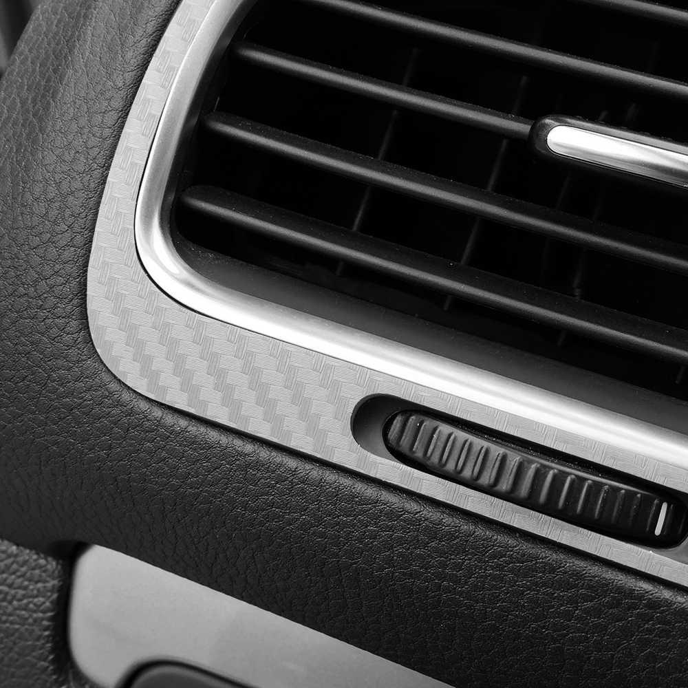 Película de fibra de carbono para coche, aire acondicionado, outlet, Panel, decoración, pegatina, estilo de coche para Volkswagen VW Golf 6 MK6, accesorios
