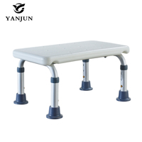 YANJUN Bath Shower Foot Stool Lightweight With Non slip Feet Bath Safety Step Stool YJ 2054