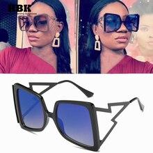 Modern Square 90s Sunglasses Women Gradient 2019 Summer Stre