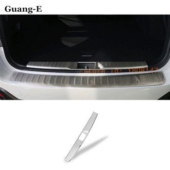 Car styling cover detector Stainless Steel Inner built Rear Bumper trim plate pedal parts 1pcs for subaru Outback 2015 2016 2017
