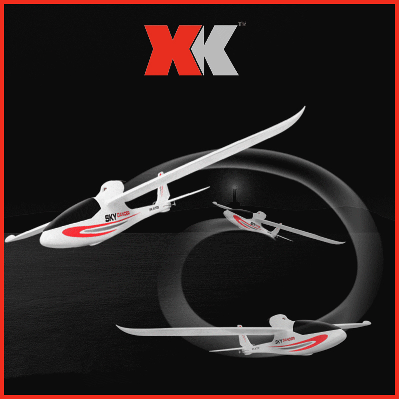 XK A700 Sky Dancer 2.4G 3CH 750mm Wingspan Fixed-wing Compatible with S-FHSS RC Airplane EPO RTF Drone free shipping wltoys f959 lights sky king 2 4g 3ch radio control rc rtf throwing flight airplane epo aircraft