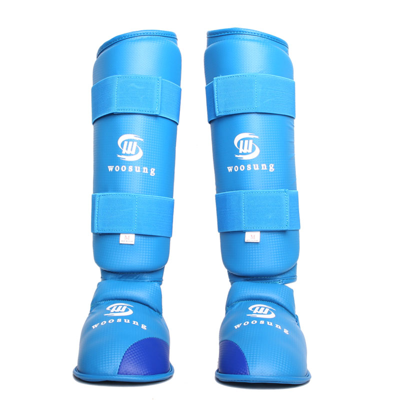 KARATE Shin guard Pad Leg Instep Protector Boxing Leggings Taekwondo Sanda MMA Training removable shin guard