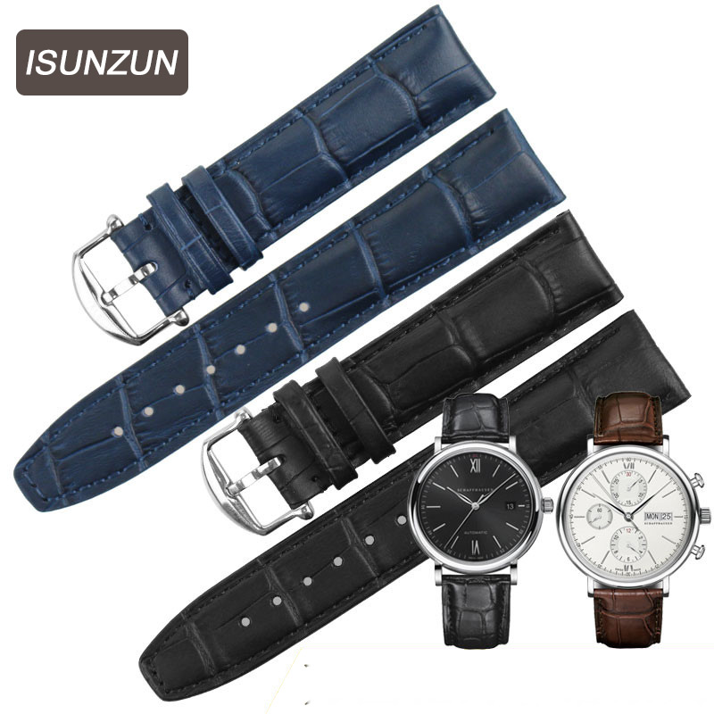 Top Brand Genuine Alligator Watchband for IWC Portuguese / Protofino Leather Watch Straps 20MM Crocodile Leather Watch Straps croco pattern genuine casfskin 19mm 20mm 22mm replacement watchband watch straps for brand watch