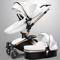 Aulon High seat stroller landscape high strollers Rotatable Swing baby car shock absorbers baby child folding trolley