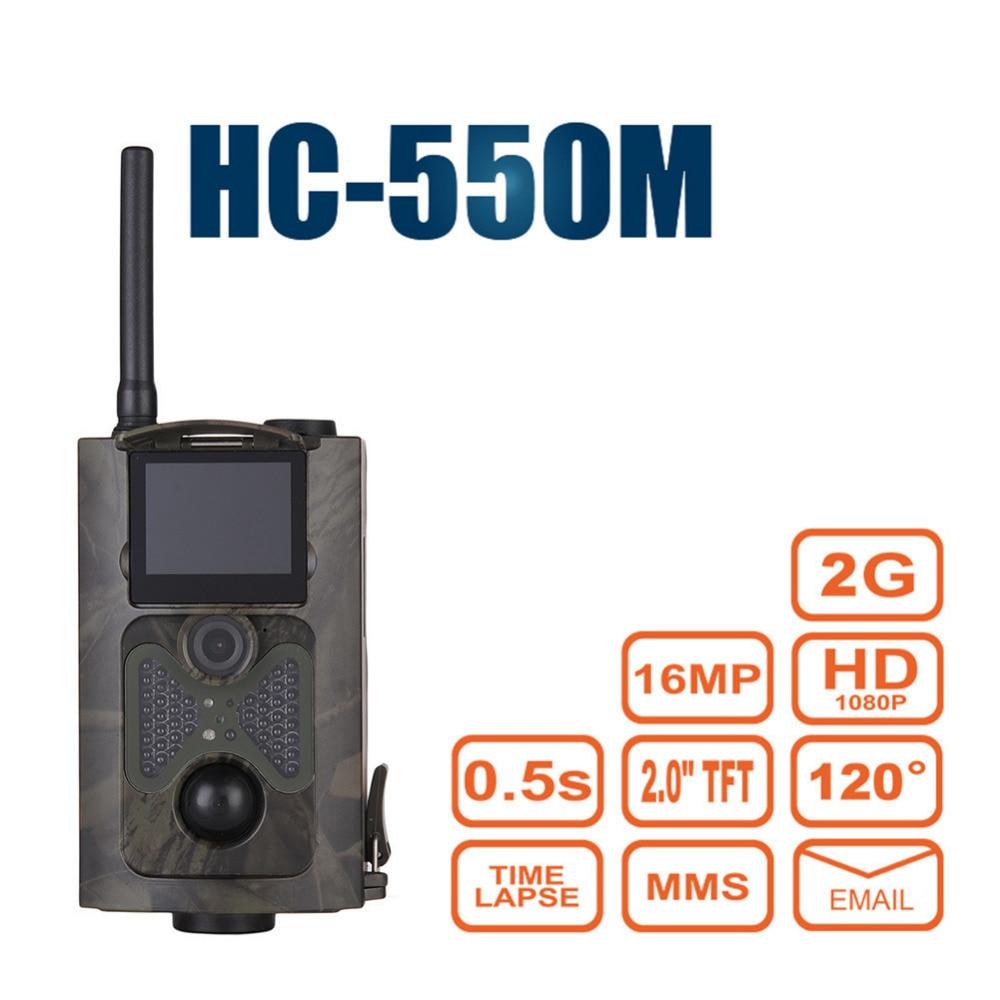 Hunting Camera Upgraded Version HC 550M 2G GSM SMS Notification 16MP 1080P 120 Degrees PIR Sensor