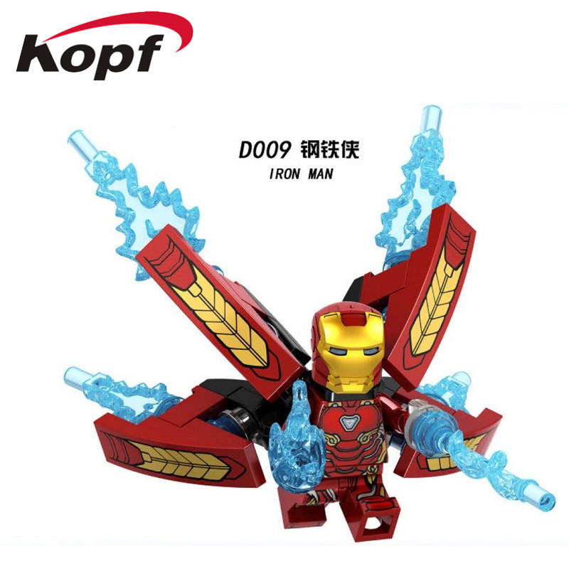 Single Sale Super Heroes INFINITY WAR Captain America Iron Spider Proxima Night Iron Man Building Blocks Children Gift Toys D009 single sale super heroes thor spiderman captain america batman hawkeye bricks action building blocks toys for children xh 004