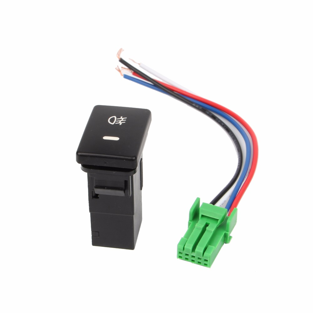 DC 12V Front/Rear Fog light Push Switch 4 Wire Button For <font><b>Toyota</b></font> Camry Prius Corolla Car Auto Light switch New image