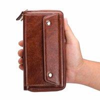 Finger Ring Belt Hand Strap PU Wallet Mobile Phone Case Pouch For Asus Zenfone Max Pro (M1) ZB601KL,Zenfone 5z ZS620KL,Zenfone 5