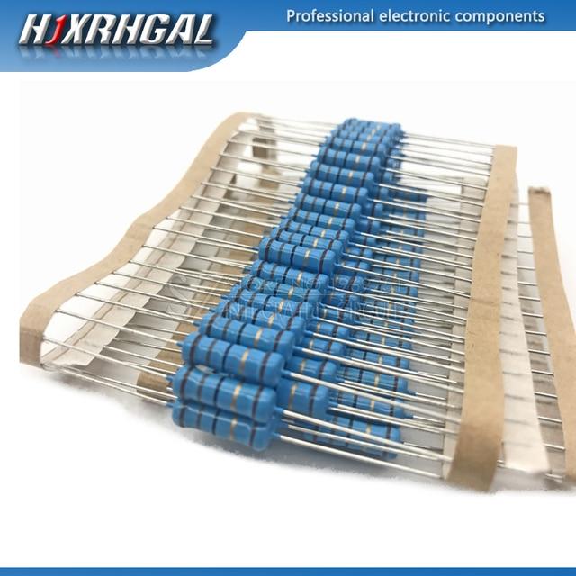 20pcs 2W Metal film resistor 1% 1R ~ 1M 2.2R 4.7R 10R 22R 47R 100R 220R 470R 1K 10K 100K 4.7 10 22 47 100 220 470 ohm hjxrhgal 1