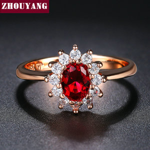 Женское кольцо с голубым камнем ZHOUYANG Princess Kate, серебряное кольцо с голубым кристаллом, ювелирное изделие ZYR076