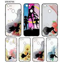 Black Silicon Soft Phone Case Sailor moon Anime Fashion For OPPO F5 F7 F9 A5 A7 R9S R15 R17 Bag