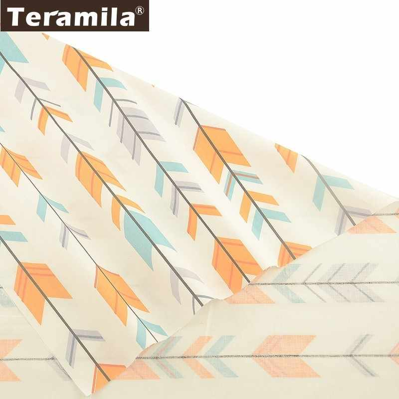 Teramila Arrow Design 100% Cotton Twill Fabric Meter Telas Tissus DIY Quilts Patchwork Bedsheet Curtains Baby Dress Home Textile