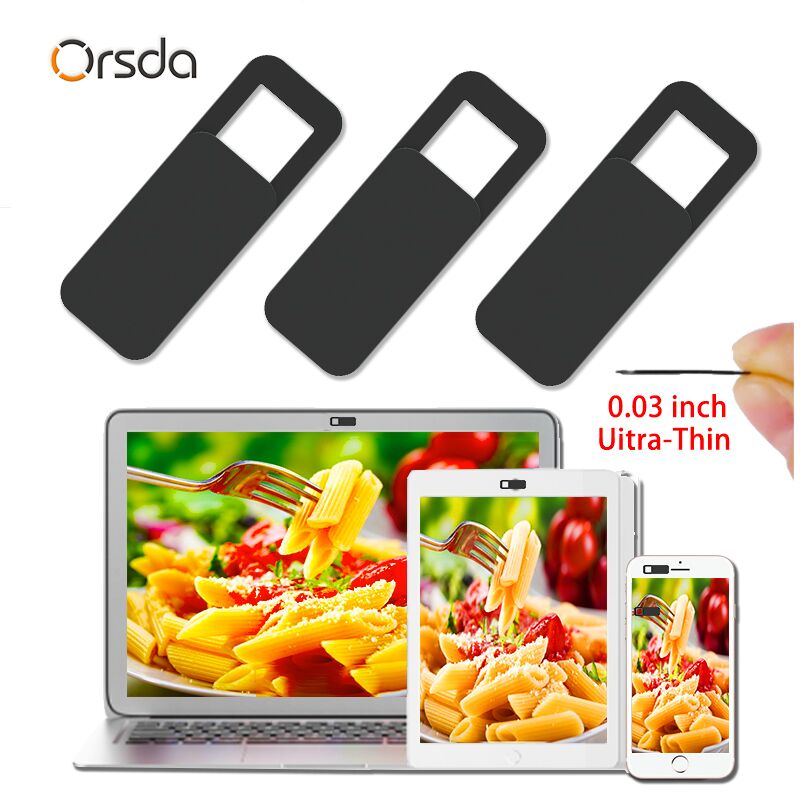 Orsda Cache Webcam Cover For Laptops laptop webcam cover tapa phone cover sticker slider ultrathin shutter magnet slide plastic(China)