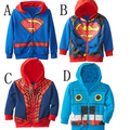 1-6 Years Spiderman Coat for Boys Kids Spring Cartoon Jacket Kids Spring Coats for Children Clothing Cotton Sweater Jacket H614