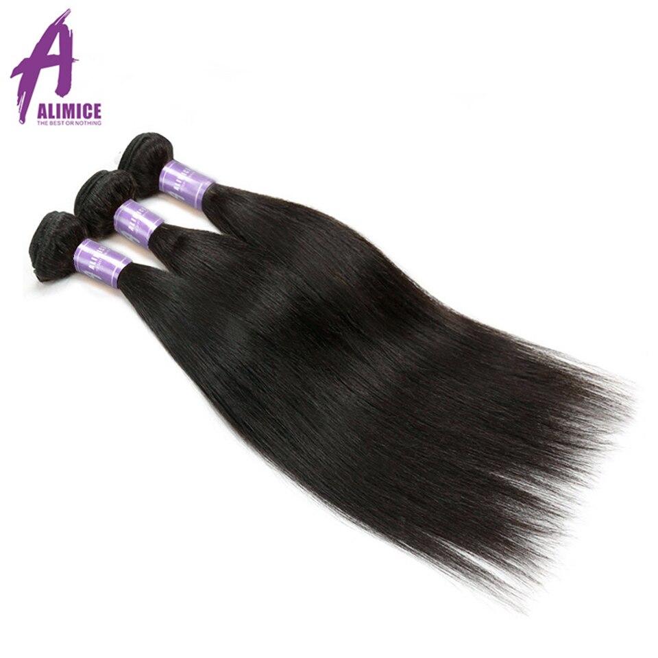 Alimice Indian Straight Hair Bundles 100 Human Hair Bundles NonRemy Hair Extensions 3Bundles Deals 8 28Inch