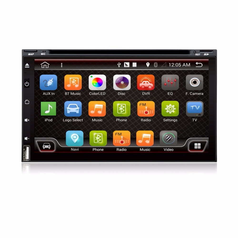 6.95 Inch Android 4.4.4 Quad Core Car Multimedia Player For Universal Remote Control Steering Wheel Control Free Map DVD Player