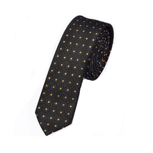 New Men's casual slim ties classic polyester woven party neckties fashion plaid dots