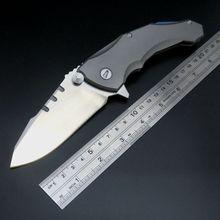 High Quality Praetorian 2 Folding Knife Ball Bearing D2 Blade Titanium Handle Camping Survival EDC Tools Pocket Hunting Knives