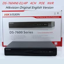Hikvision Original English Vervsion DS-7604NI-E1/4P 4CH PoE NVR Network Video Recorder Hikvision NVR