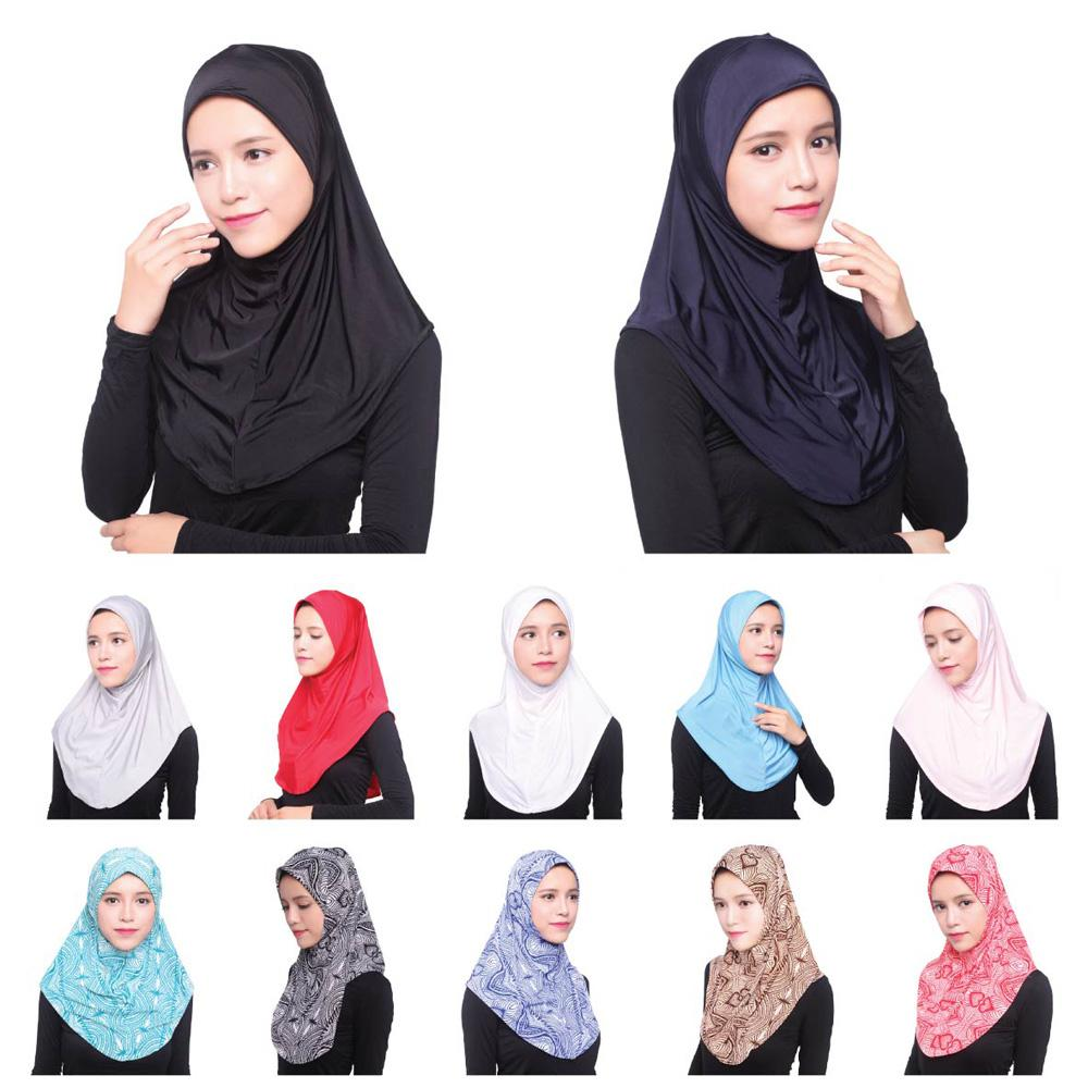UAE Islam Arabia Hijab Amira Caps Women Muslim Turban Hijabs Head Cover Mujer Bonnet Headscarf Underscarf Worship Hats New