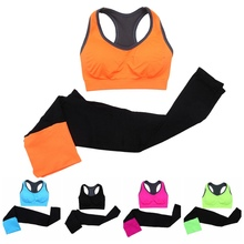 Women s Yoga Suits Fitness Gym Yoga Set Breathable Quick Dry Bra and Pants SportsWear High