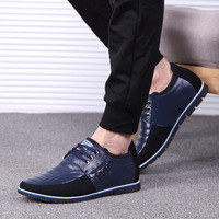 M anxiu Fashion Korean Style Patchwork Leather Shoes Men Invisible Height Increasing Insole Casual Party Shoes 2018 Autumn New
