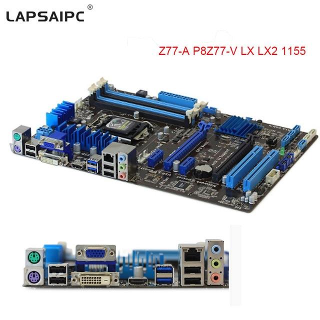 P8Z77-V LX motherboard DDR3 LGA 1155 32GB Intel Z77 Desktop borad for i3 i5 i7 ATX UEFI  ...