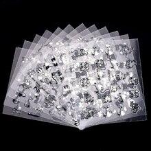 12 Pcs/Lot 3D Beau Chat de Bande Dessinée Conception En Plastique Nail Art Décoration Autocollants Pour Ongles Manucure Strass Fournitures Stickers JH240