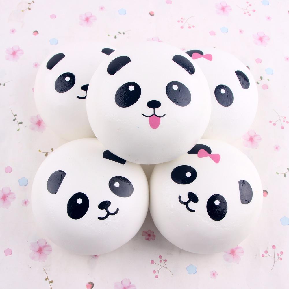 10cm Cute Cartoon Jumbo Chubby Black White Panda Bread Phone