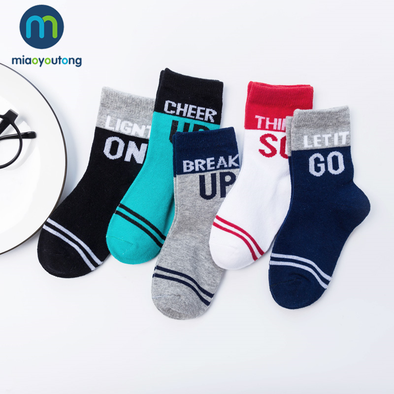 5pair/lot 10pcs Cotton Letter Color Comfort Skarpetki Newborn Socks Kids Boy Knit Soft Girl Baby Socks Meia Infantil Miaoyoutong