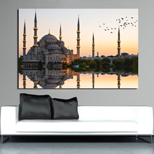 Islamic Sultan Ahmed Mosque Canvas Painting Print Living Room Home Decoration Modern Wall Art Oil Posters Pictures