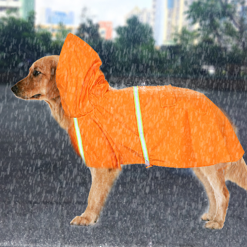 Raincoat For Dogs Waterproof Coat Jacket Reflective Puppy Small Medium Large Dog Pet Rain Cover Clothes Poncho Golden Retriever