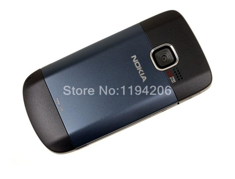 Refurbished nokia c3-00 WIFI 2MP bluetooth camera Jave unlocked phone blue 2