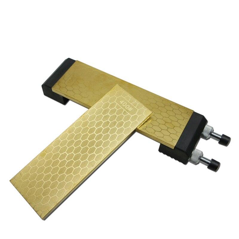 Dmd 티타늄 나이프 연마 숫돌 다이아몬드 양면 400 및 1000 grits 크기 200*70*8mm 숫돌 홀더 h4-에서샤프너부터 홈 & 가든 의  그룹 1