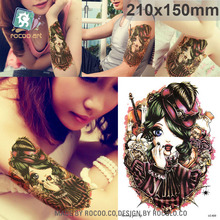 LC820/Latest Large Temporary Body Tattoo Stickers Cute Doll Designs-21X15cm Tattoo