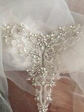 Argento In Oro Rosa di strass Delicato collare di applique, bordato diamante applique, da sposa sash nuziale della cinghia di applique