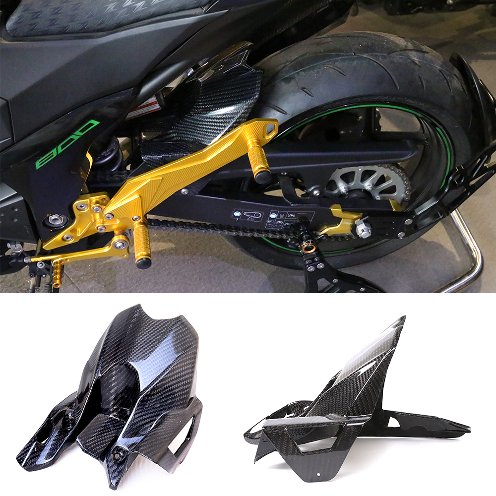 Motorcycle Accessories Carbon Fiber Rear Fender Mudguard Fender Hugger For Kawasaki Z800 ZR 800 Z ZR800 2013-2016 2014 2015 exterior accessories carbon fiber for infiniti q50 wheel decorative protective fender mudguard sticker cover