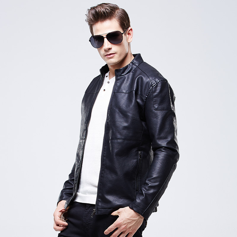 Free Shipping Winter Leather Coat Men Fitted Leather Jacket Men ...