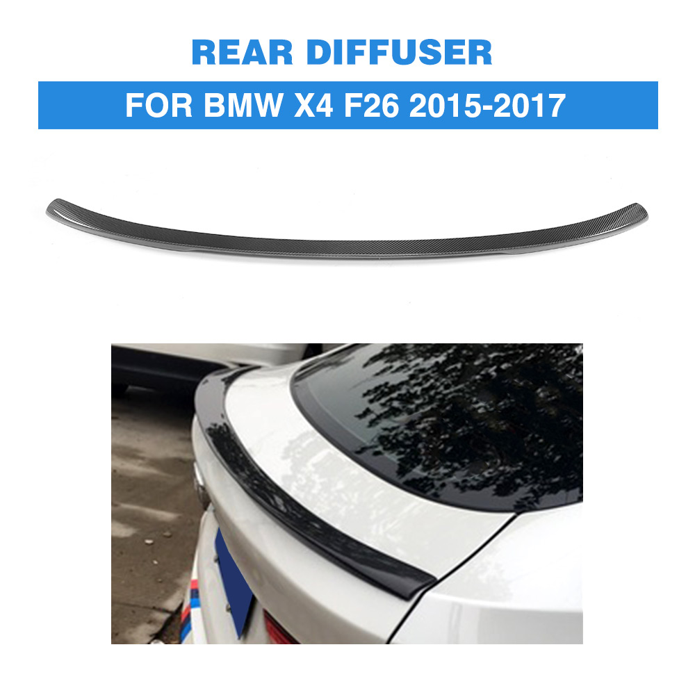 Carbon Fiber Auto Rear Spoiler Boot Wing Lip Wing for BMW F26 X4 SUV M Sport 2015-2017 Car Tuning Parts f26 suv rear trunk lip genuine carbon fiber gloss black back wings spoiler for bmw x4 2014 xdrive20i xdrive28i xdrive35i