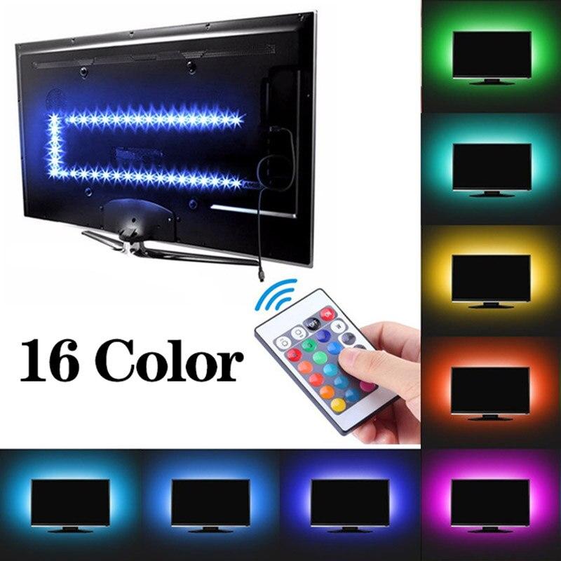 LED Strip Lamp 20 Colors 5V  5050 RGB Flexible USB LED Light Tape Ribbon 1M - 5M Desktop Screen Led Backlight Tv