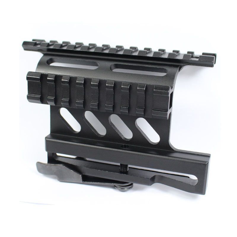 Tactical <font><b>Mount</b></font> AK Serie Picatinny Weaver Side <font><b>Mount</b></font> Rail Quick QD 20mm rail Double Side <font><b>AK47</b></font> AK74 <font><b>Scope</b></font> Sight <font><b>Mounts</b></font> Rifle image