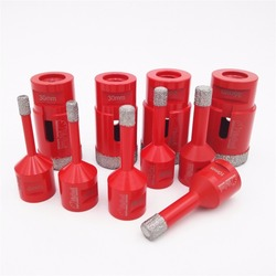 DIATOOL 1pc M14 Connection Vacuum Brazed Diamond Drilling Core Bits Stone Drill Bits Diamond Drill Bits Diamond Hole Saw