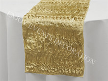 100pcs YHR#54 rosette satin table runner for any events decoration, customized size available