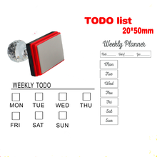 Photosensitive seal DIY handbook special TODO / month plan week punch card